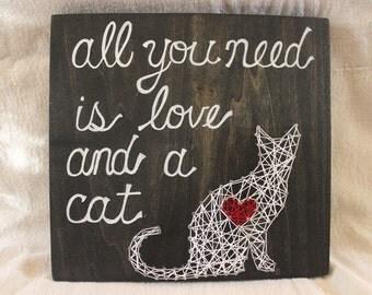 Cat String Art