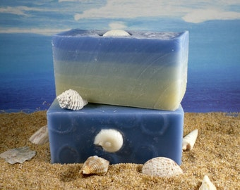 Ocean Blues Soap /Natural Homemade Shea Butter Soap, Blue Soap, Eucalyptus Essential Oil Soap, Cold Process Soap