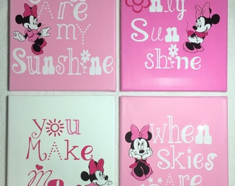 You are my sunshine Minnie Mouse pinks
