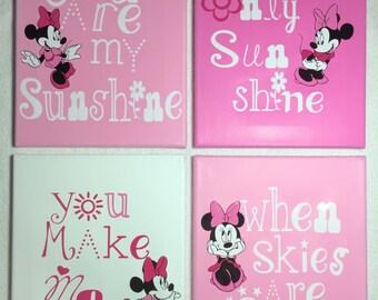 My sunshine set Minnie Mouse pink