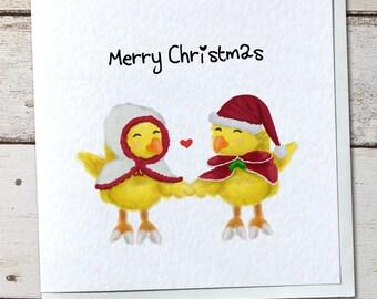 Final Fantasy Christmas Chocobos Greetings Card