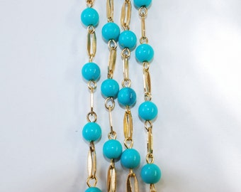 1970's Blue Bead Necklace