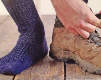 Mens Knitted Boot Socks Knitting Pattern