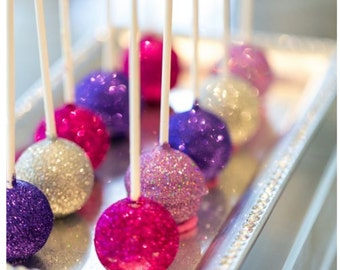Glitter Cake  Pops - weddings,  baby showers,  birthays, special events,