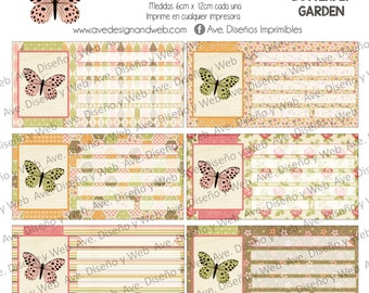Butterfly Labels, Labels for Notebooks, Labels for Books, School Labels