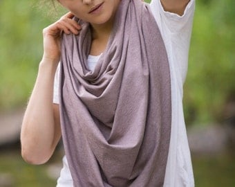 Poncho Scarf in Speckled Brown