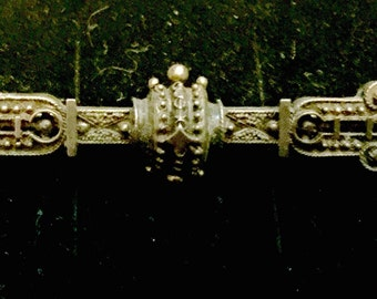 Etruscan pin gothic and ornate stunning bar pin highly detailed