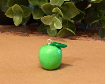 Granny Smith Green Apple Charm