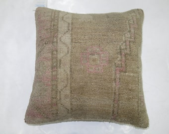 Pink Medallion Oushak Rug Pillow