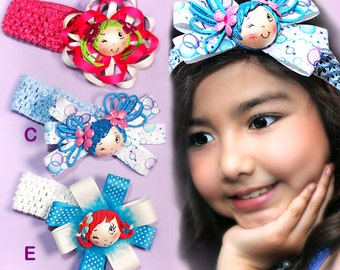Fofuchas Headbands.  Girl's bows for all occassion.