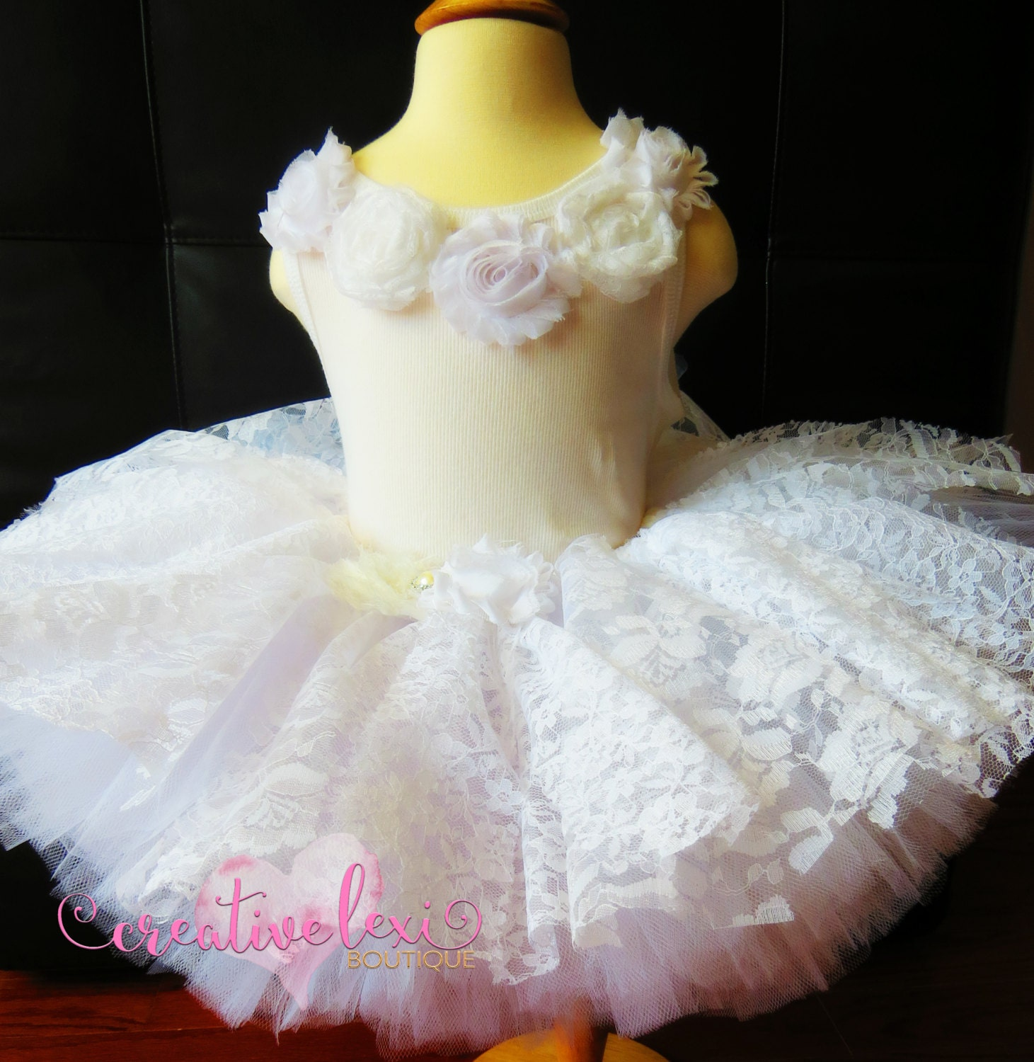 Flower Girl Dress Toddler Dress Easter Dress Lace by LexyAndCo