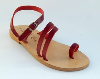 Greek Leather Sandals (38, 39 - Brown)