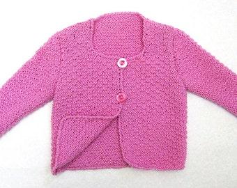Wool cardigan, girl cardigan, cardigan for girl, girl dress, handmade cardigan, cardigan made in Italy
