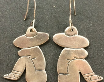 Vintage Mexican Sterling Silver Earrings Signed