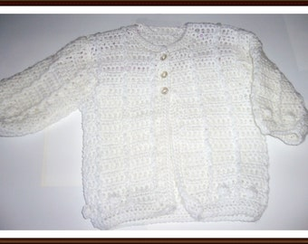 Crochet white Cardigan