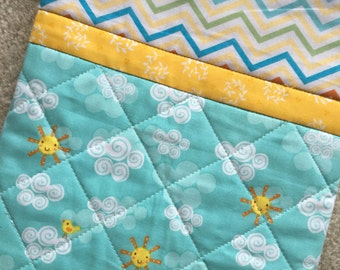 Baby Play Mat-Quilted, Baby Quilt, Stroller Quilt/Blanket