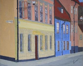 "FJÄLLGATAN, STOCKHOLM (20x16"" oil painting)"