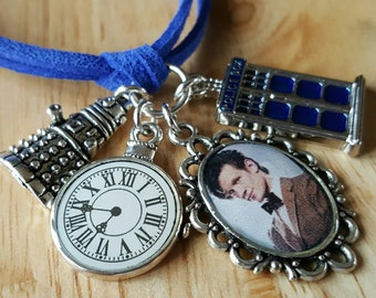 12th Doctor, Matt Smith, Doctor Who, handmade cord bracelet with charms