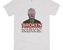 CNN/Wolf Blitzer/Breaking News/Sad Clown Emmett Kelly Painting/Original Graphic Pop Art/Satirical/Parody/UNISEX American Apparel T-shirt