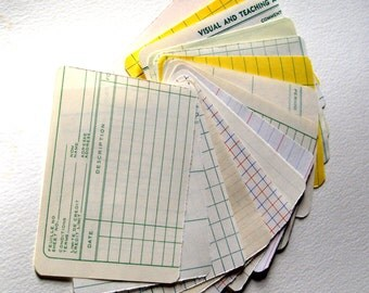 Vintage ledger paper cards 3x4 project life 15 pcs note card scrapbook journal cards lined and graph book paper notes thoughts junk journal