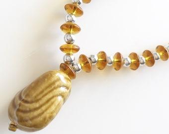 Ghanaian Bead Necklace Fair Trade Bead Necklace Fair Trade Jewelry Red Bead Necklace Boho Necklace Red and White Bead Fair Trade Necklac