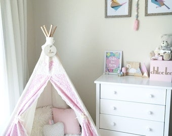 Pretty in Pink Lace Tee Pee