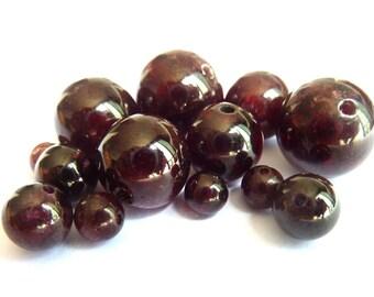 Ø 8mm pearl garnet PF0120 wire length of 35 cm