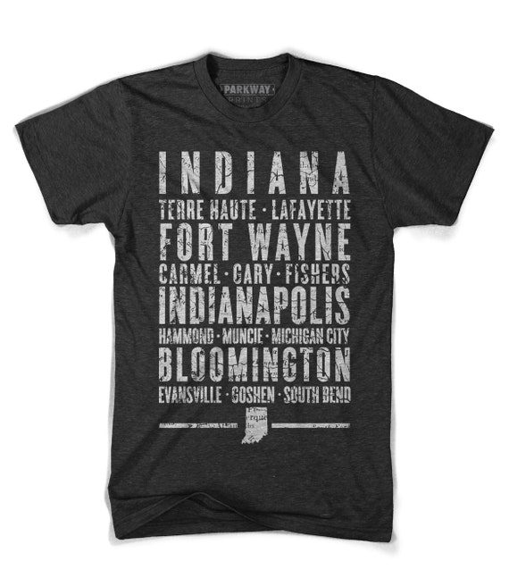 Indiana State Shirt By Parkwayprints On Etsy