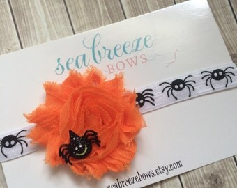 Halloween Spider Flower Headband