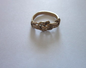 Vintage Sterling Silver Retro Tied Knot Ring