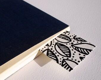 Hand Printed  Leaf Pattern Bookmarks, pack of 3
