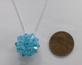 Puffy Crystal Ball Necklace