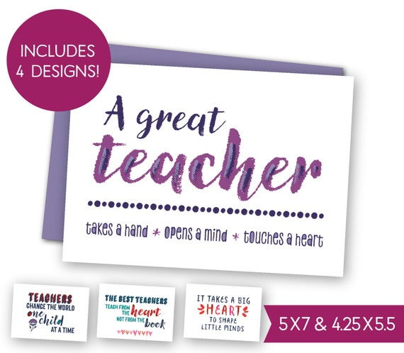 Welcome Quotes For Teachers Day: School Teacher Quotes Printable Card Bundle Teacher