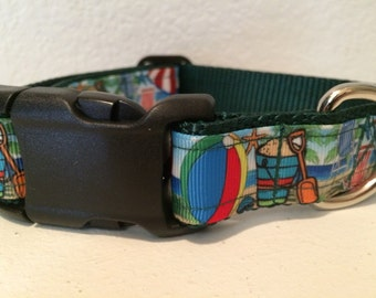 Beach Summer dog collar adjustable nylon
