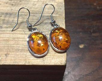 Amber Earrings Baltic Amber Earrings Baltic Amber Earrings In Handmade Silver Earrings Wire Natural baltic Amber Earrings Drop Earrings