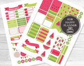 Printable Watermelon Planner Stickers for HAPPY PLANNER, Mambi, Instant Download
