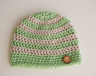 Crochet Baby Hat With Wooden Button
