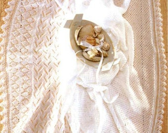 PDF Knitting Pattern- Baby shawls in 2ply - 2 designs on 1 pattern