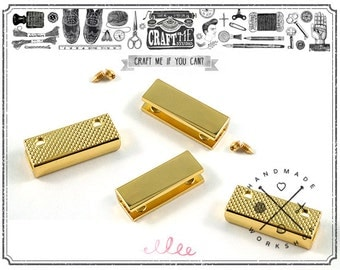 5 Sets 1 INCH GOLD Pointed Strap End Caps or Zipper Ends