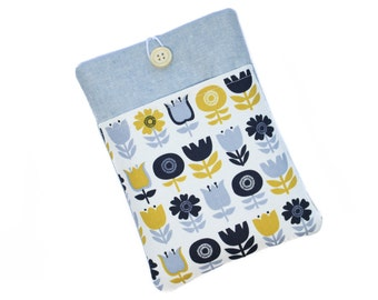 Kindle Paperwhite Cover, Kindle Sleeve, Kindle Fire HD6 Case, Kindle Voyage Case, Kindle Cover, Kindle Touch Case, Scandi Flowers
