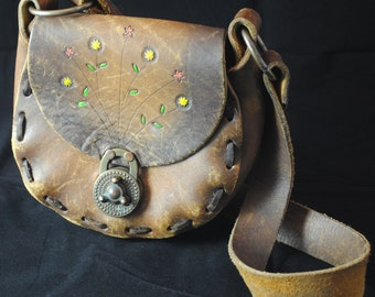 1960's Tooled Leather Purse