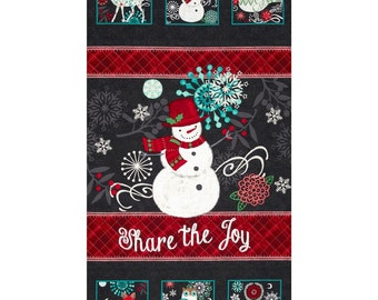 Christmas panel, Chalkboard Snowman, Snowman fabric panel, Christmas panel, by Studio E, 2222P