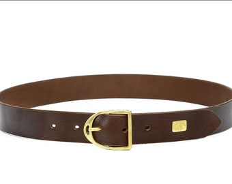 The Rider's Side : Classic Stirrup Iron Leather Belt