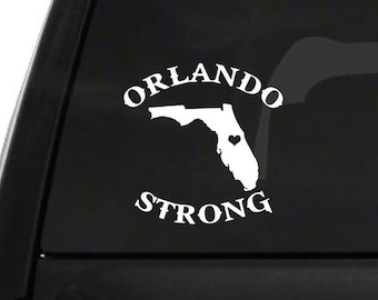 Orlando Strong Florida (M14) Vinyl Decal Sticker Car/Truck Laptop/Netbook Window