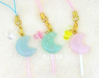Baby moon lollipop charm
