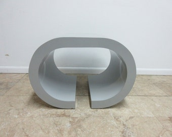 Vintage Mid Century Formica Sculptural Lamp End Table