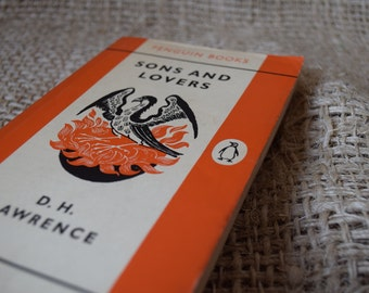 Sons and Lovers. D.H. Lawrence. Vintage Orange Penguin Book 668. 1961