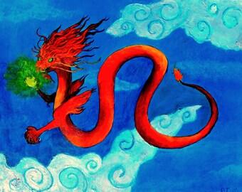 Red Dragon :Art Print