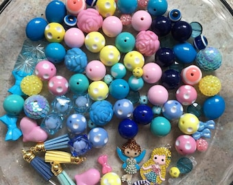 86 Paired Beads & 2 Pendants