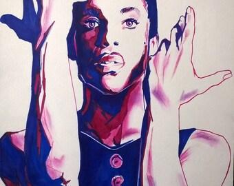 Rest in Purple Prince tribute print